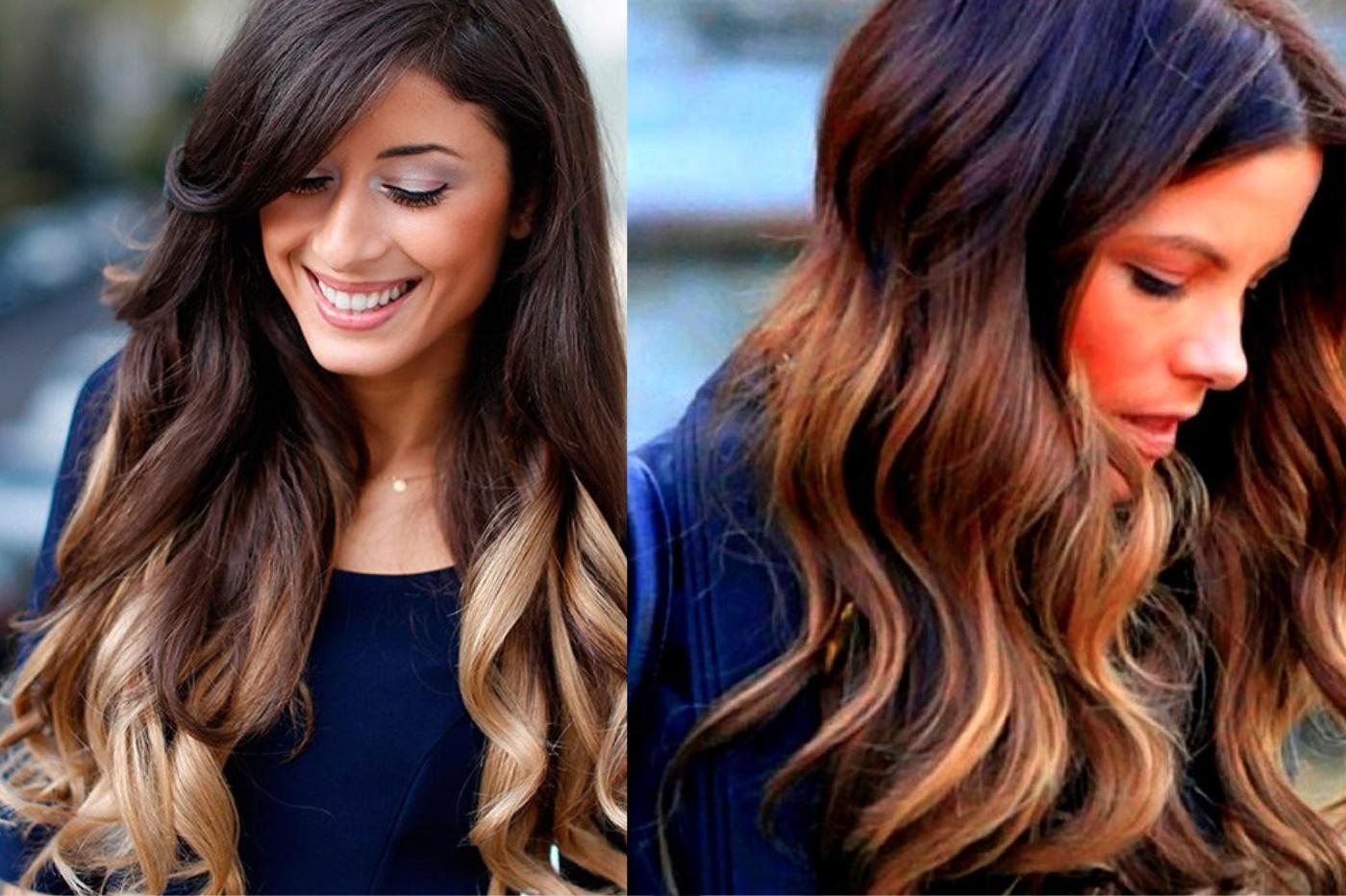 наверняка, поражали фото омбре для темных волос обожает