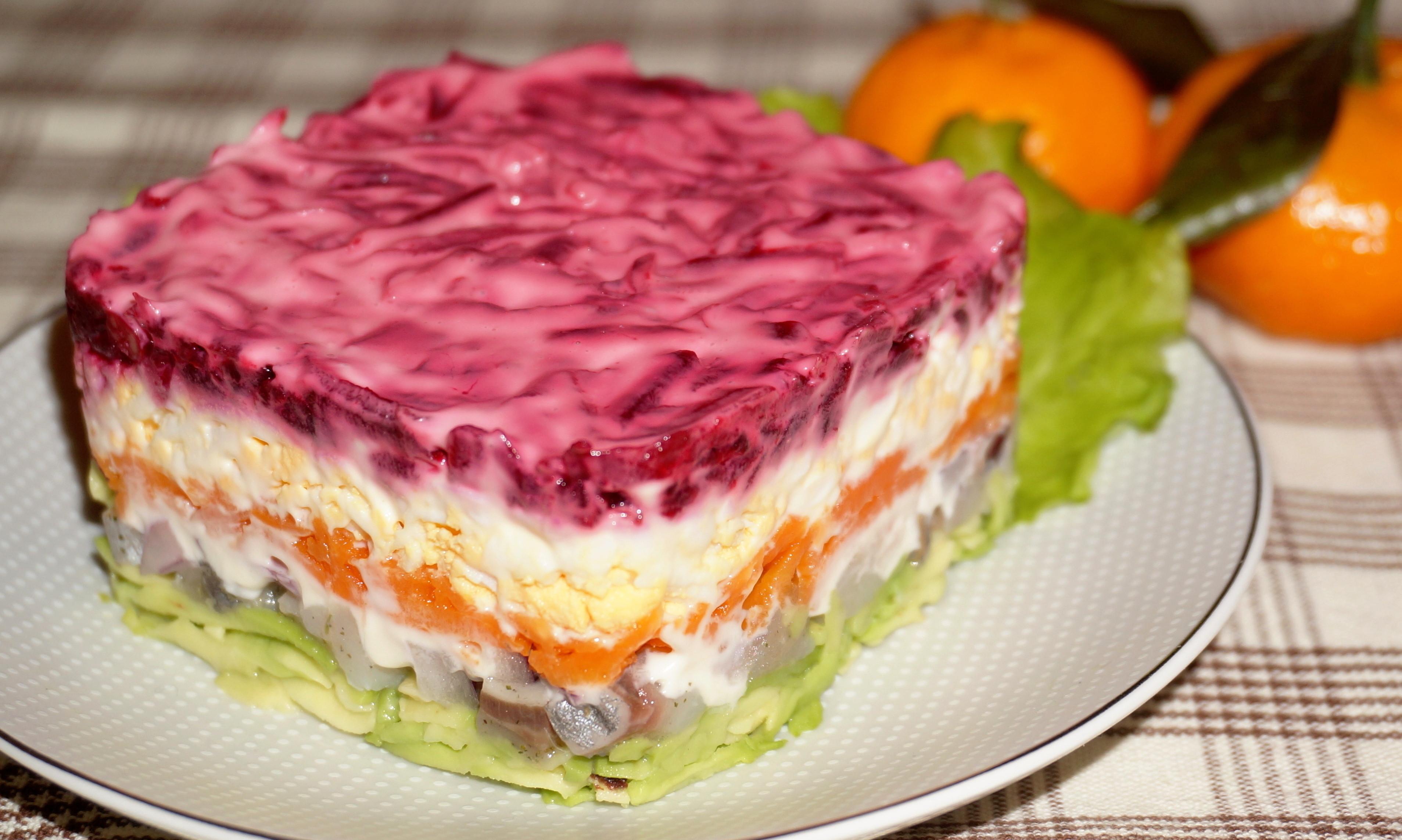 салат под шубой рецепт с фото пошагово первый взгляд она