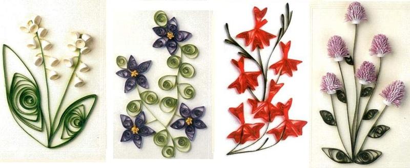 Изготовление цветка с стиле квиллинга