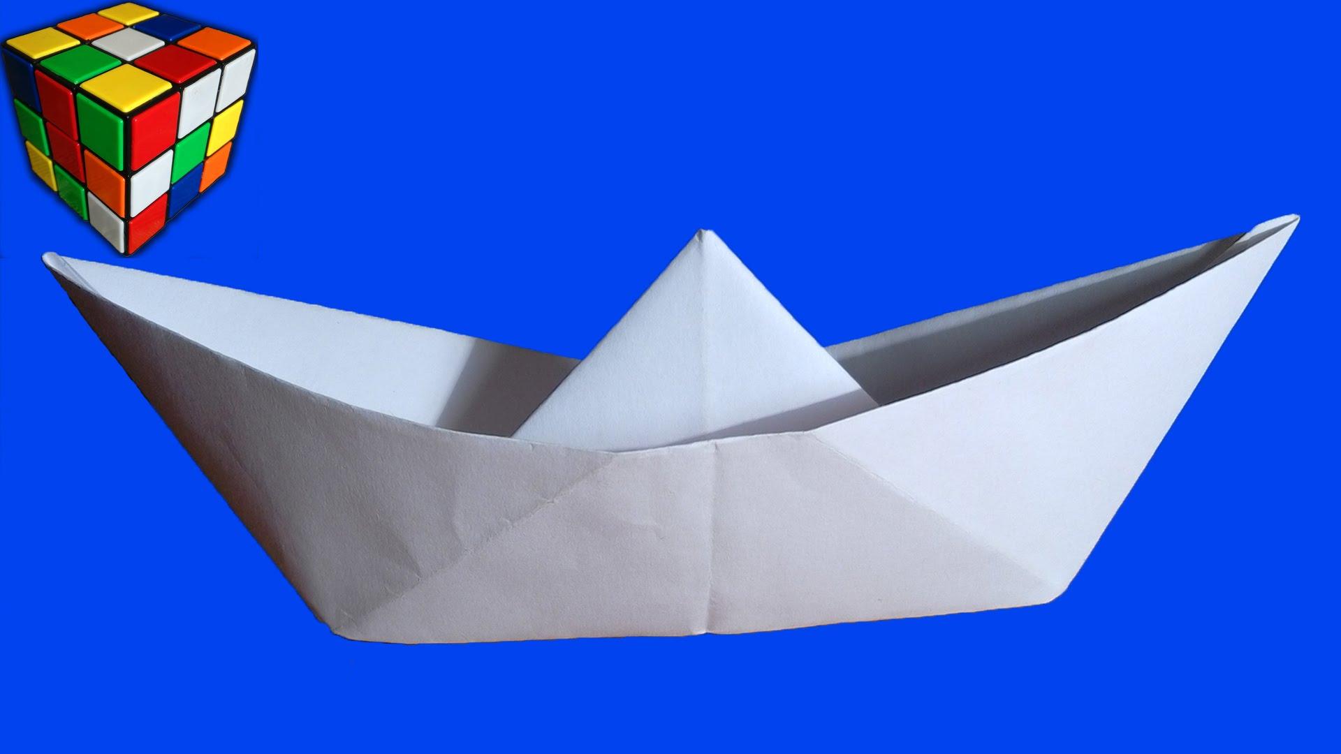 Как сделать бумажный кораблик видео фото 942