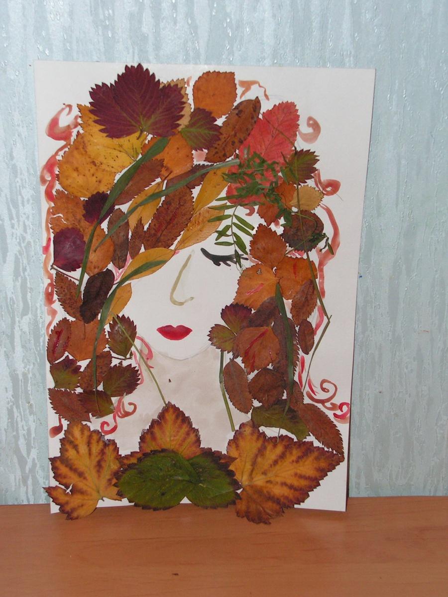 Открытки из природного материала на тему осень