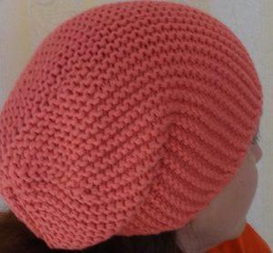Бини шапка спицами