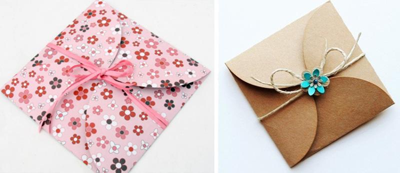 Варианты декоративного оформления конверта
