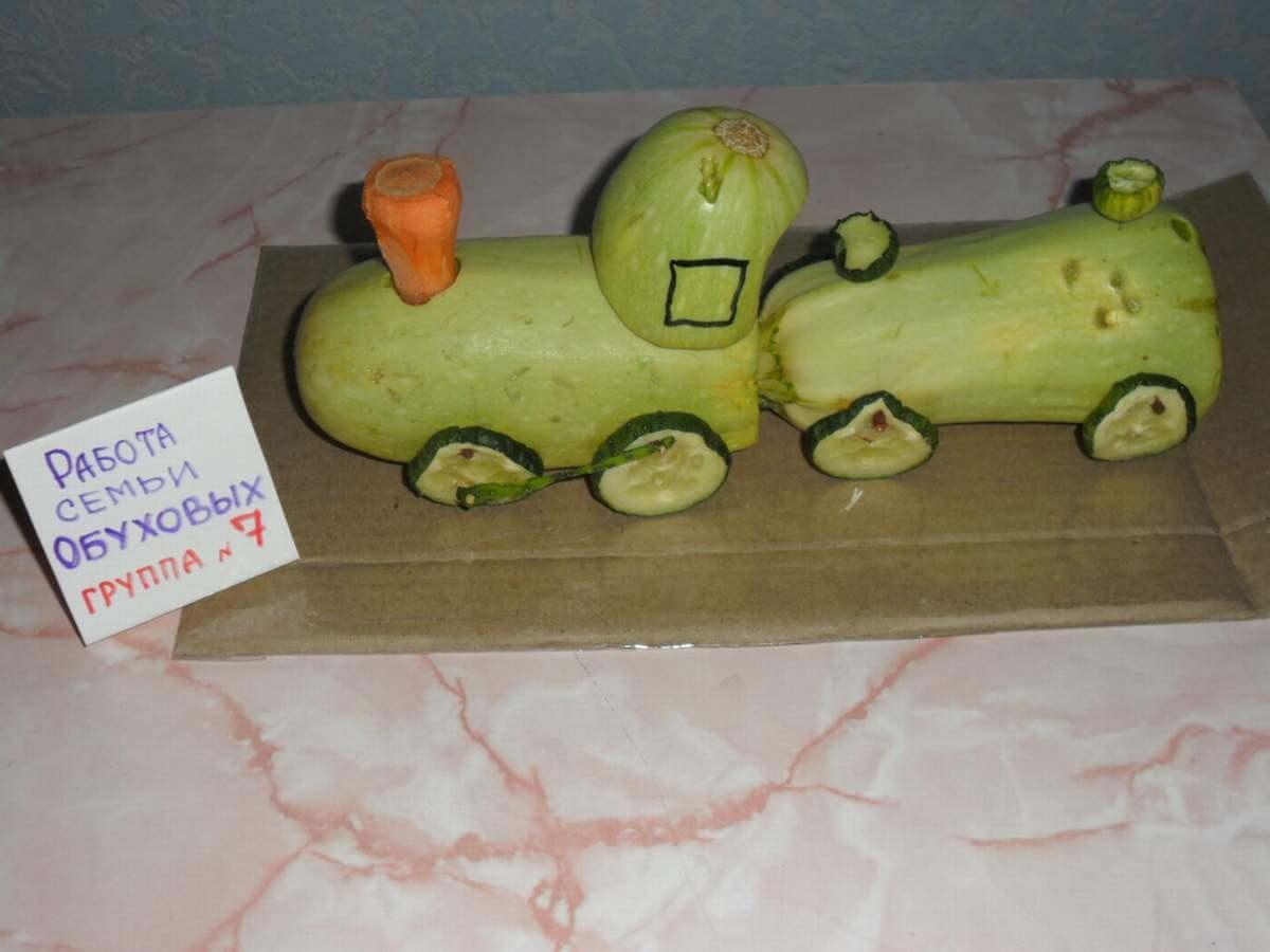 Поделки из овощей и фруктов для детского 95