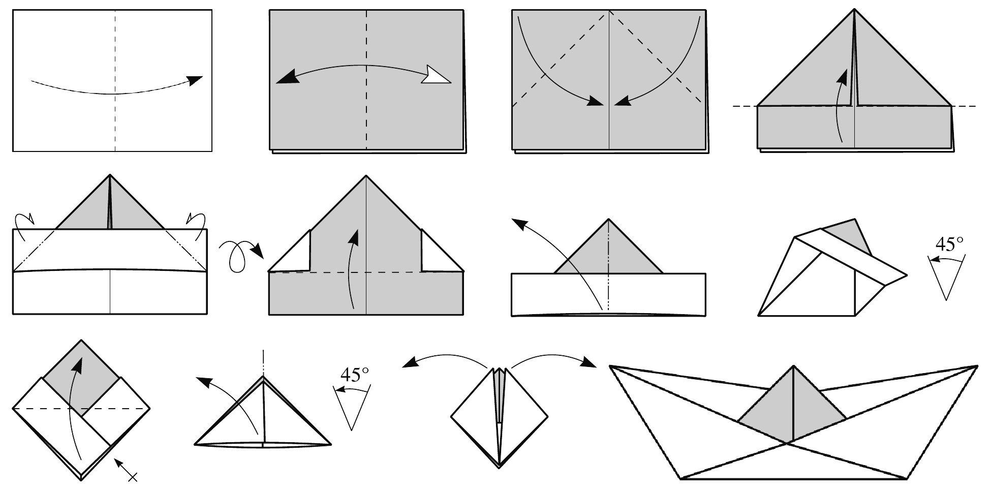 Как сделать кораблики из бумаги поэтапно 84