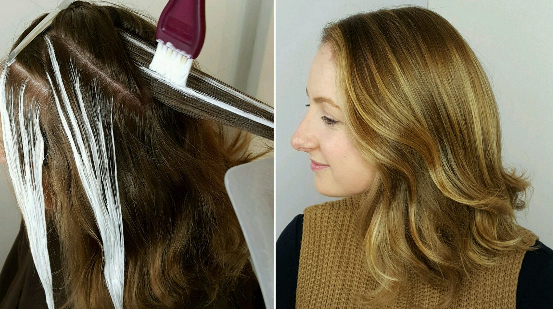 Мелирование на темные волосы с челкой в домашних условиях фото пошагово